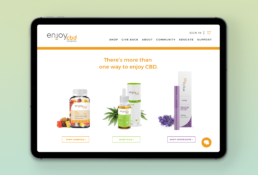 Brand Identity Web Design Tablet